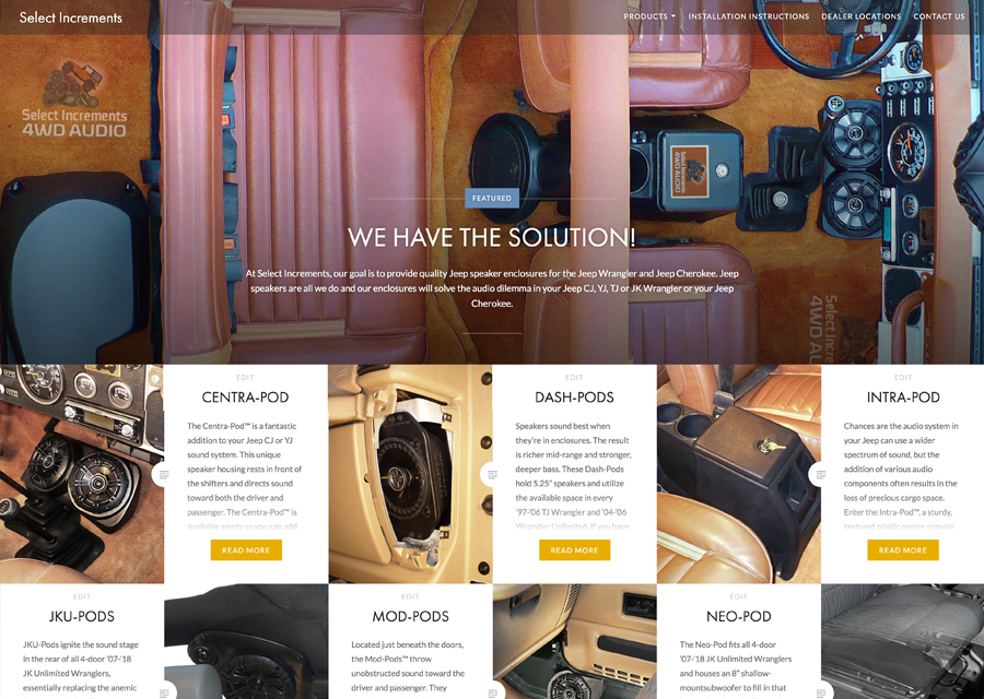 Custom Jeep Speaker Website